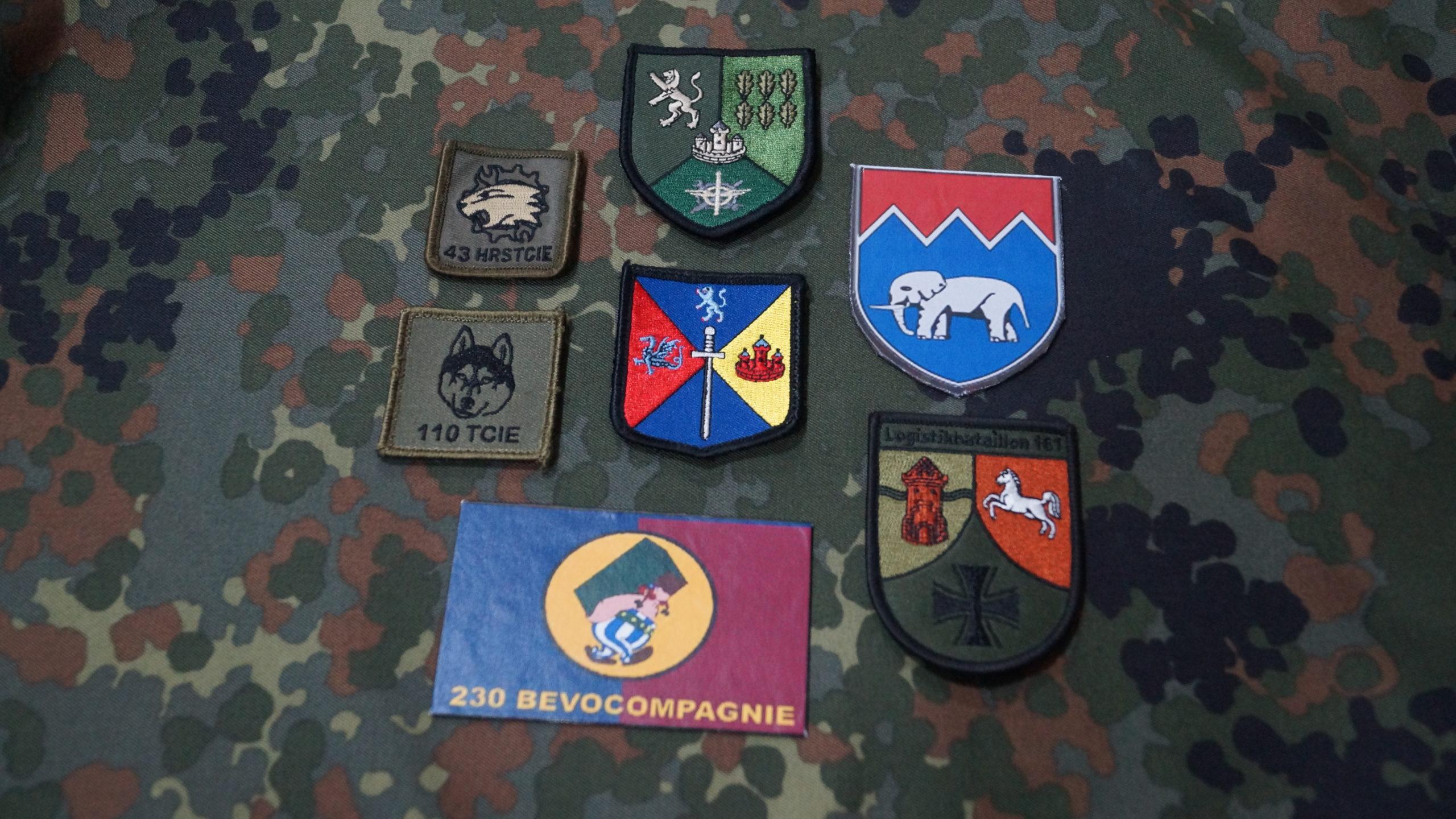 Verbandsabzeichen auf Flecktarnuntergrund - Blauer Bund